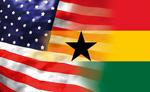 America-Ghana Flags